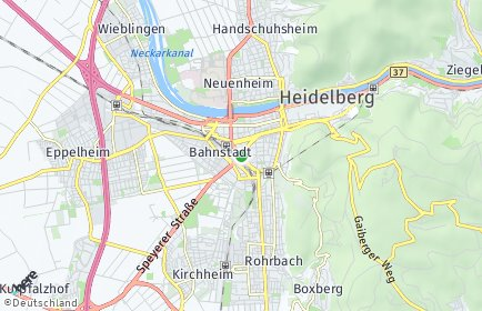 Stadtplan Heidelberg