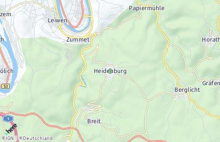 Stadtplan Heidenburg
