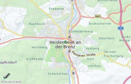 Stadtplan Heidenheim an der Brenz OT Schnaitheim