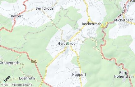 Stadtplan Heidenrod OT Dickschied