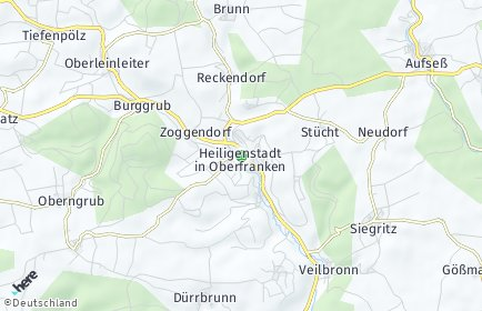 Stadtplan Heiligenstadt in Oberfranken