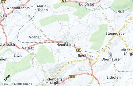 Stadtplan Heimenkirch OT Unterried