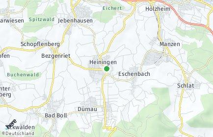 Stadtplan Heiningen (Kreis Göppingen)