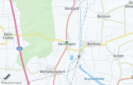 Stadtplan Heiningen (Niedersachsen)