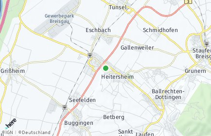 Stadtplan Heitersheim OT Gallenweiler