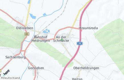 Stadtplan An der Schmücke OT Bretleben