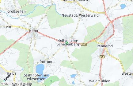 Stadtplan Hellenhahn-Schellenberg