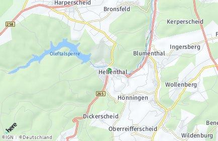 Stadtplan Hellenthal