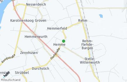 Stadtplan Hemme