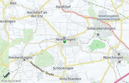 Stadtplan Hemmingen (Württemberg)