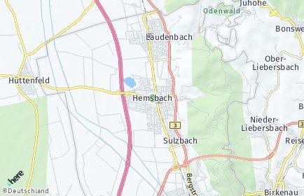 Stadtplan Hemsbach (Bergstraße)