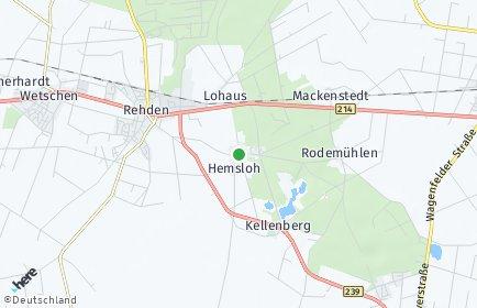 Stadtplan Hemsloh