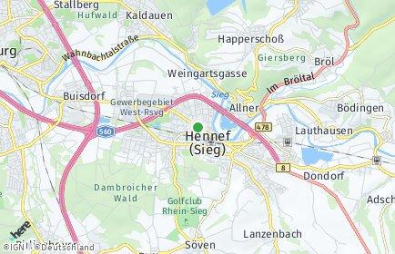 Stadtplan Hennef (Sieg) OT Büllesbach