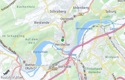 Stadtplan Herdecke an der Ruhr