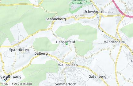 Stadtplan Hergenfeld