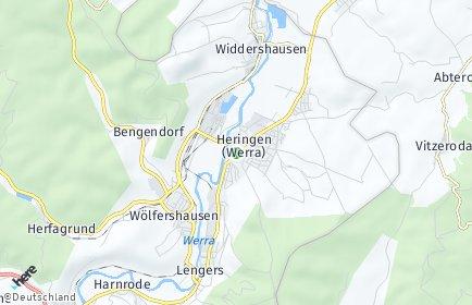 Stadtplan Heringen (Werra)