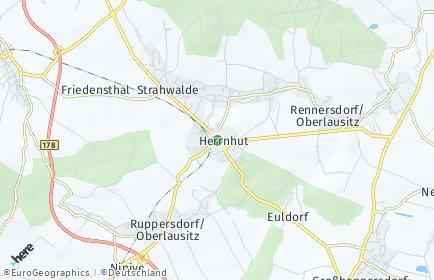 Stadtplan Herrnhut