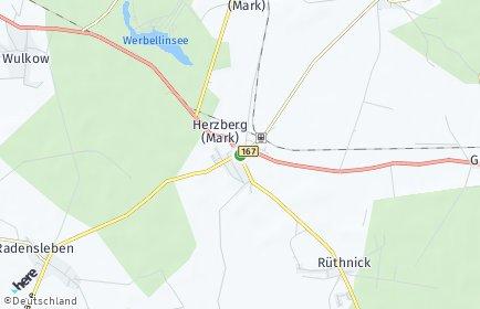 Stadtplan Herzberg (Mark)