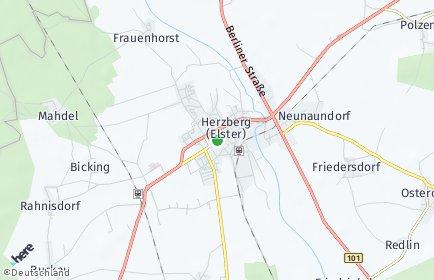 Stadtplan Herzberg (Elster)