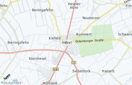 Stadtplan Hesel