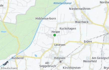 Stadtplan Hespe
