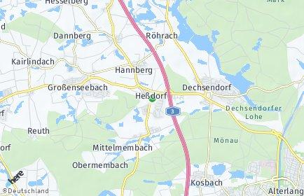 Stadtplan Heßdorf