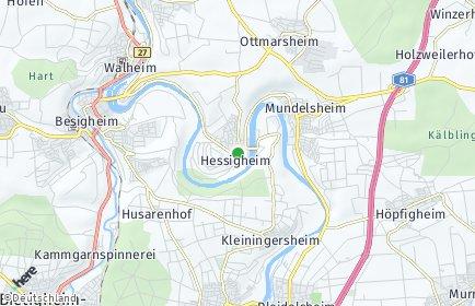 Stadtplan Hessigheim