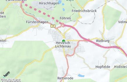 Stadtplan Hessisch Lichtenau