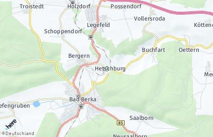 Stadtplan Hetschburg
