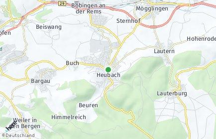 Stadtplan Heubach (Württemberg)