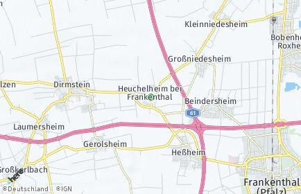 Stadtplan Heuchelheim bei Frankenthal