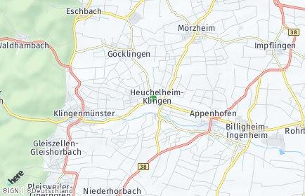 Stadtplan Heuchelheim-Klingen