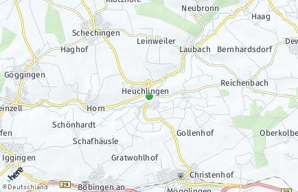 Stadtplan Heuchlingen