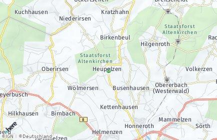 Stadtplan Heupelzen