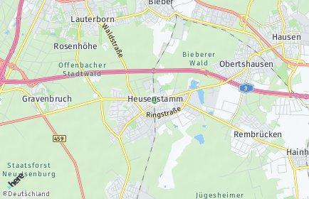 Stadtplan Heusenstamm