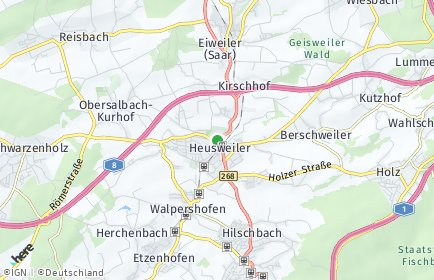 Stadtplan Heusweiler