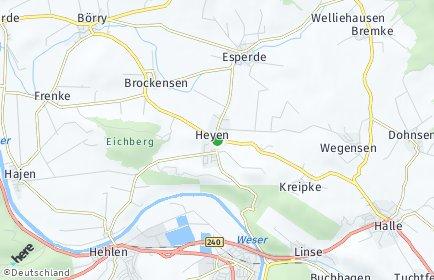 Stadtplan Heyen