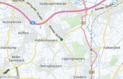 Stadtplan Hiddenhausen