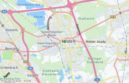 Stadtplan Hilden