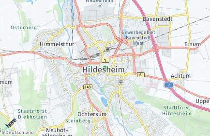 Stadtplan Hildesheim OT Marienburger Höhe