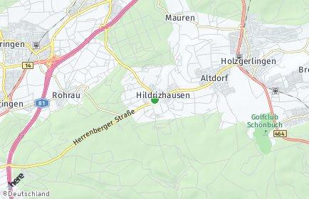 Stadtplan Hildrizhausen