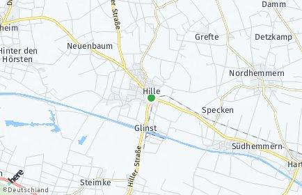 Stadtplan Hille
