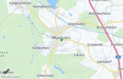 Stadtplan Hilpoltstein OT Minettenheim