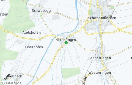 Stadtplan Hiltenfingen