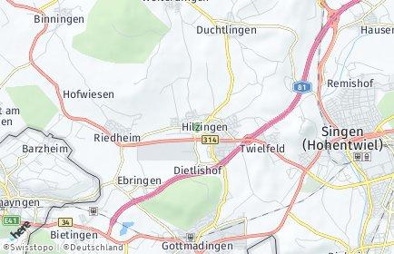 Stadtplan Hilzingen