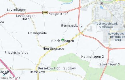 Stadtplan Hinrichshagen (Vorpommern)