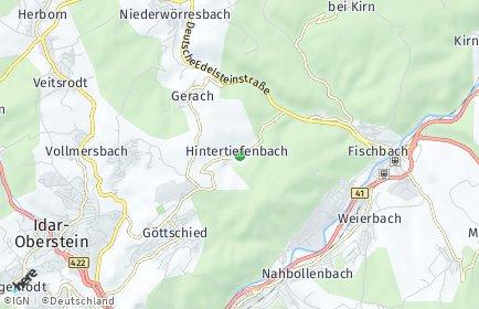 Stadtplan Hintertiefenbach