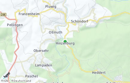 Stadtplan Hinzenburg