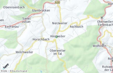 Stadtplan Hinzweiler