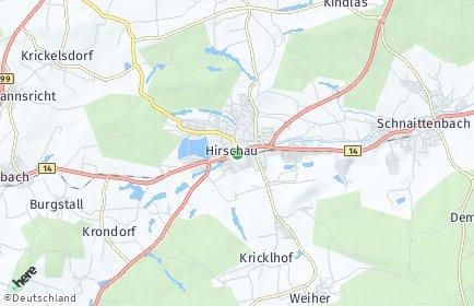 Stadtplan Hirschau